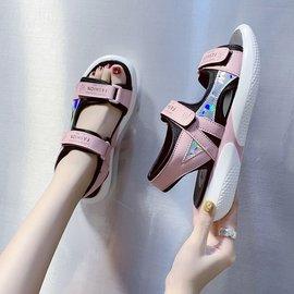 2020新款夏天10少女孩12中大童凉鞋13初中学生仙女风沙滩女鞋15岁
