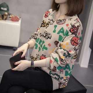 大码女装2021秋冬装新款微胖妹妹mm减龄洋气显瘦上衣长袖T恤卫衣
