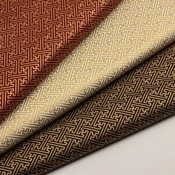 日本进口烫金和风布料 日式纯棉布料 手工DIY口金手帐 烫金万字纹