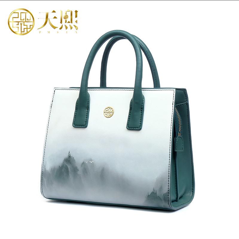 Китайский стиль сумка сумка дизайнер авторской живописи пейзаж живопись мешок день матери дианы