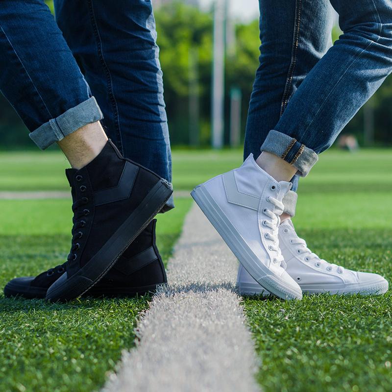 PONY高帮帆布鞋经典款女鞋2020夏季时尚百搭休闲鞋男子情侣硫化鞋