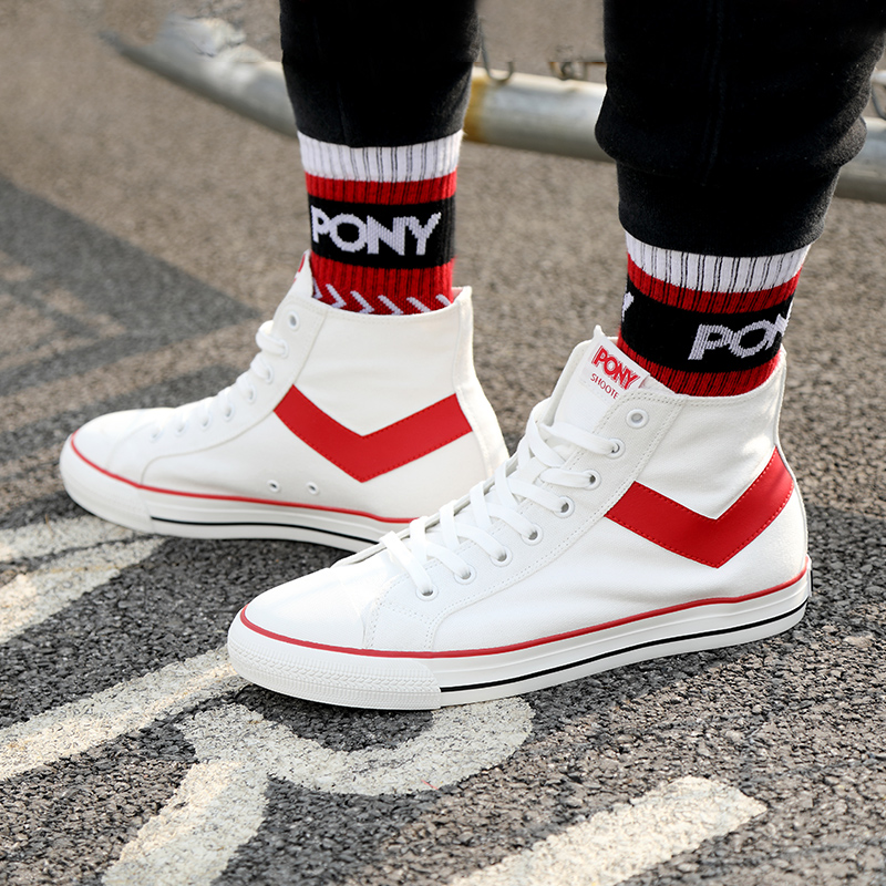 Bonny / pony classic high top canvas shoes casual sports shoes