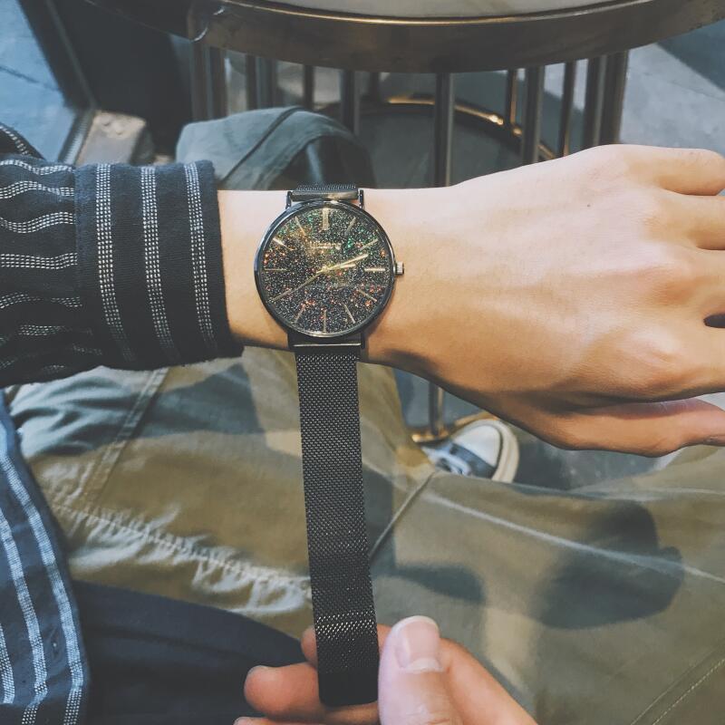 星空手表男满天星抖音同款概念防水时尚潮韩版简约男表学生非机械