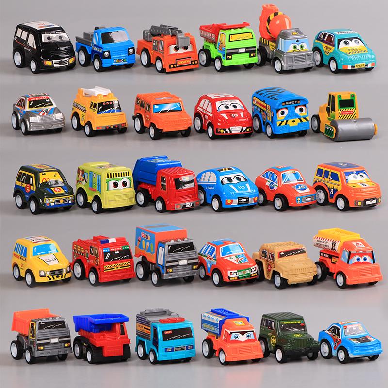 小汽车玩具儿童耐摔男孩工程车套装回力车惯性迷你车宝宝车子女孩