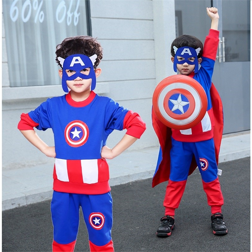 Captain USA childrens suit boys Cosplay role play costume costume costume