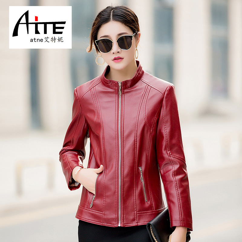 Autumn and winter leather jacket womens top Korean leather womens short Pu womens leather new jacket jacket fashion