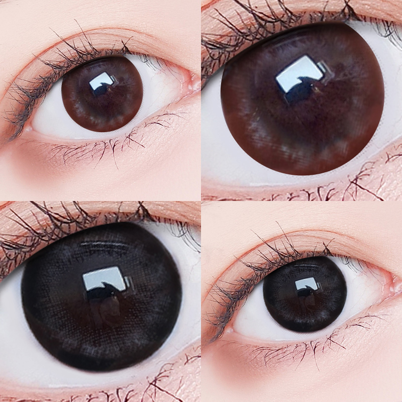 Big beautiful eye contact lenses are thrown every year, female large diameter 14.5 natural invisible glasses for myopia, black genuine official website for half a year