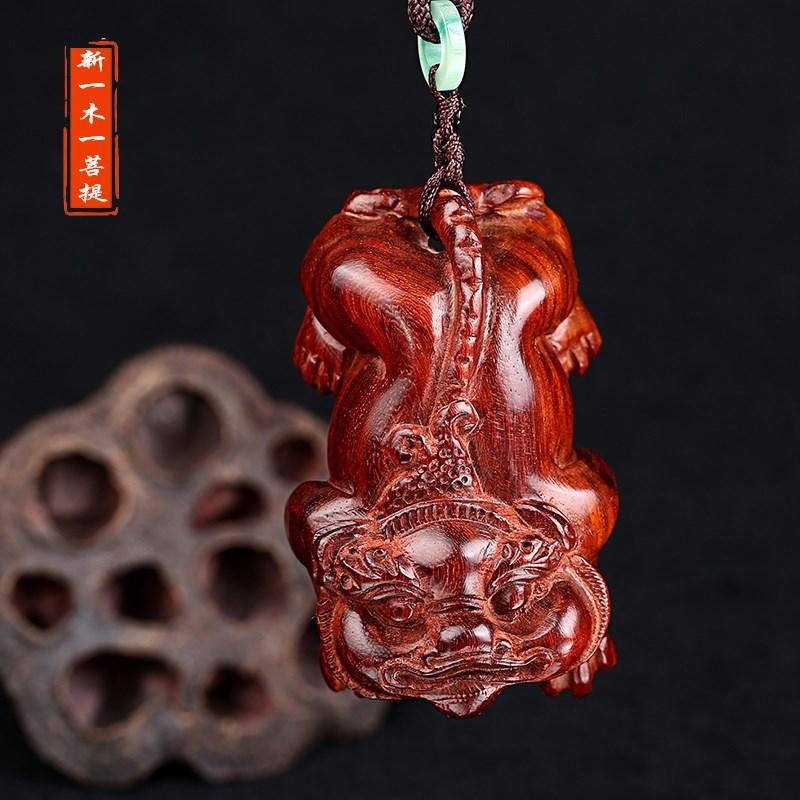 老料小叶紫檀招财镇宅貔貅手把玩件文玩木雕刻挂件红木工艺品摆件