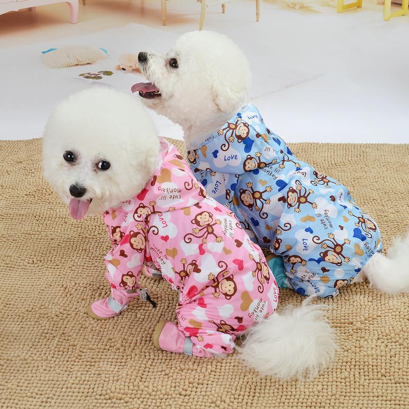 中國代購 中國批發-ibuy99 小狗衣服 狗狗雨衣小型犬中型犬雨披双层防水夏季薄款泰迪比熊柴犬小狗衣服