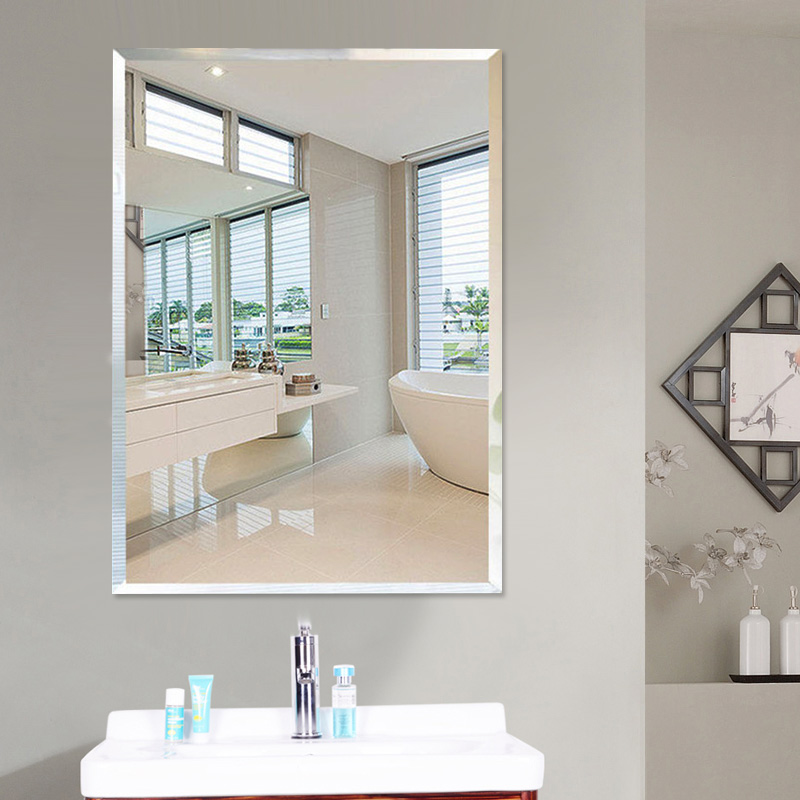 Ванная комната зеркало настенный паста стена перфорация соус зеркало ванная комната зеркало мойте руки между туалет ванная комната зеркало косметическое зеркало