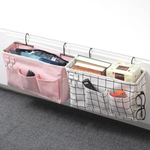寝室上铺床边收纳袋挂袋 床头布艺储物挂篮住校学生床上宿舍神器