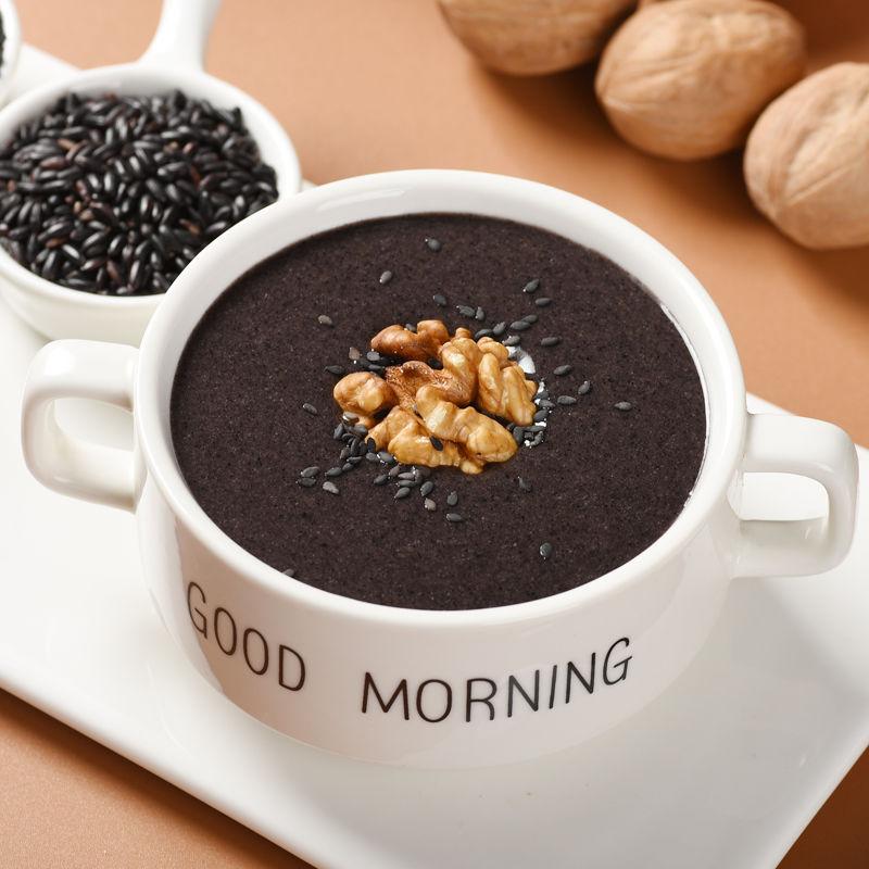 黑芝麻核桃桑葚黑豆粉早餐食品黑芝麻糊代餐粉冲饮即食五谷杂粮粉