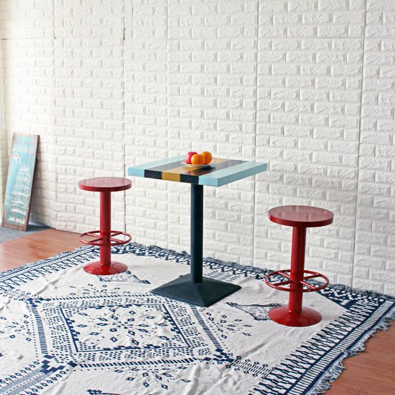 铁艺吧台椅 北欧酒吧高凳高脚凳 创意个性吧台桌椅组合高脚吧台凳
