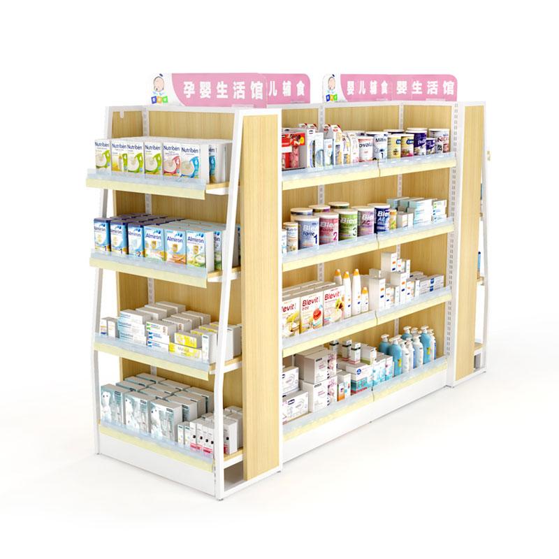 业神制造超市货架便利店精品母婴单面双面文具店药店货架陈列展架