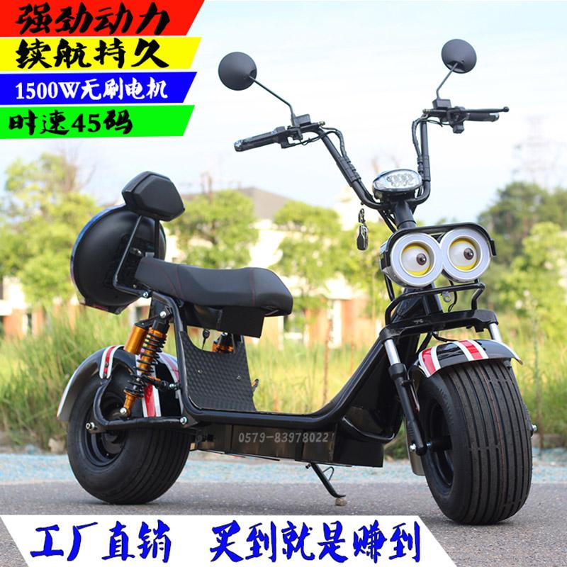 黄人哈雷电动车大哈雷电瓶车A8电动滑板车宽大轮胎成人电动自行车2699.00元包邮