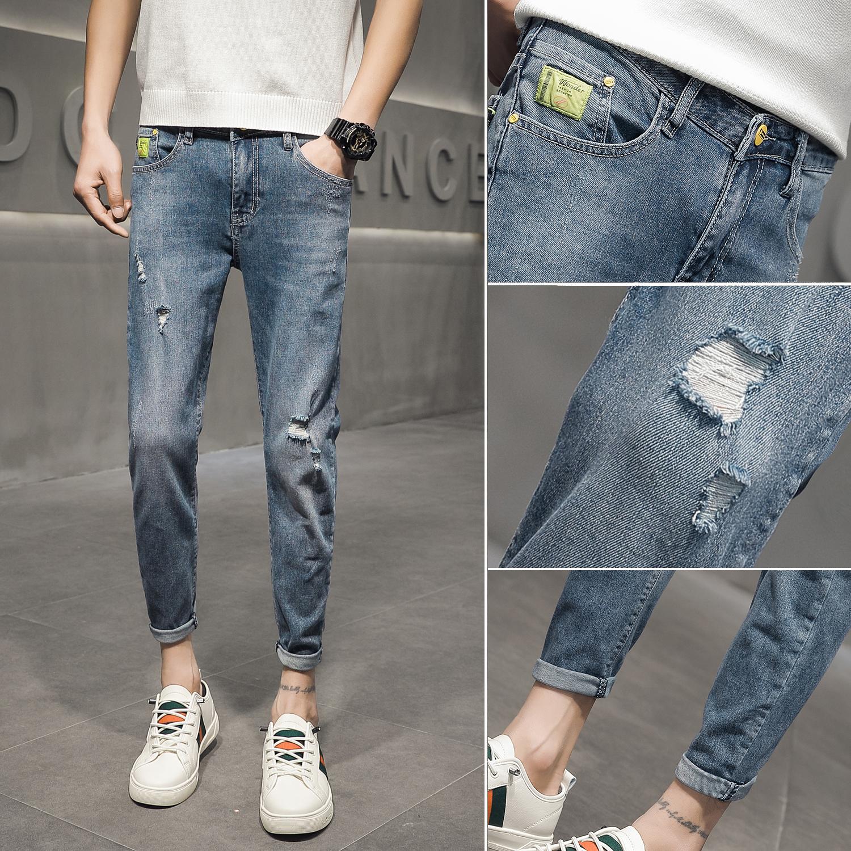 1401-3/KK282p65男士牛仔裤韩版微弹流行修身小脚