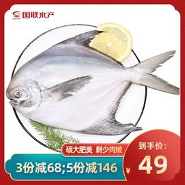 国联水产东海鲳鱼新鲜冷冻白鲳鱼250g/份海鲜图片