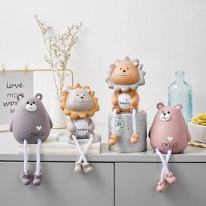 北欧置物架吊脚娃娃装饰品小摆件 ins风家居客厅房间创意可爱摆设