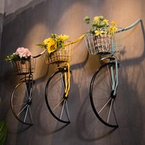 美式工业风复古创意铁艺自行车壁挂酒吧餐厅咖啡厅墙面装饰品挂件