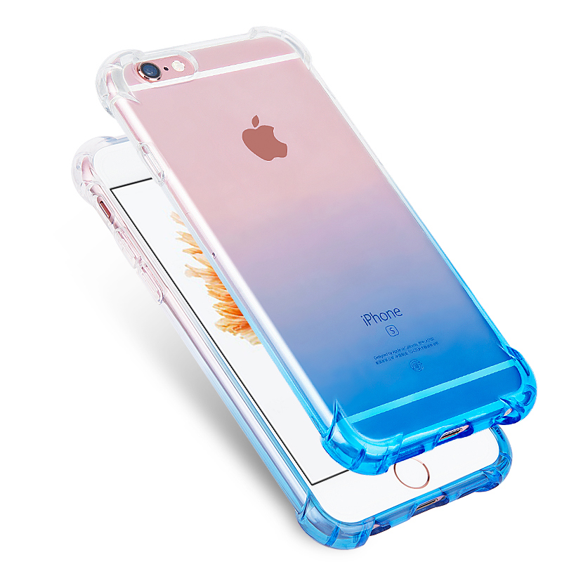 睿升 蘋果6s手機殼防摔iPhone6plus手機套女款矽膠透明潮男日韓六