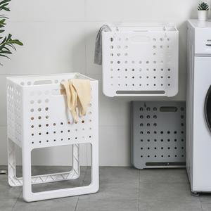 日本可折叠脏衣篮壁挂式脏衣服收纳筐家用衣服框洗衣篮子脏衣篓子