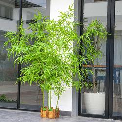 仿真竹子假植物室内装饰隔断室外庭院摆件屏风造景绿叶子景观底座