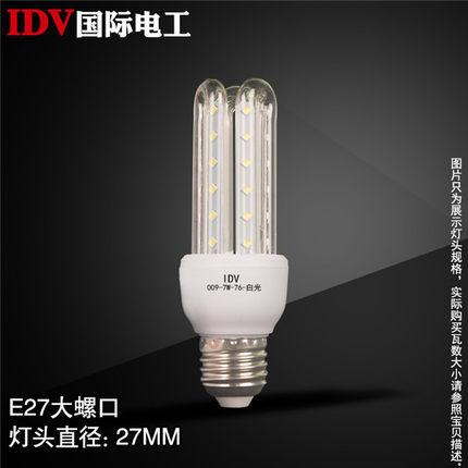 IDV 节能灯泡led照明led玉米灯螺口e27e14暖黄 单球泡超亮led灯