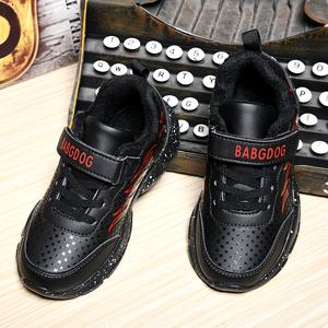 男童鞋子2019新款秋冬加绒儿童棉鞋