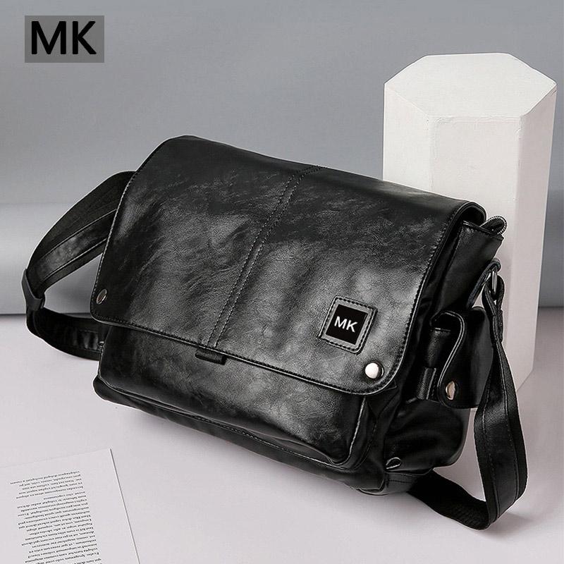 MK mens bag single shoulder bag leather mens Bag Messenger Bag mens bag cowhide backpack cross style messenger bag