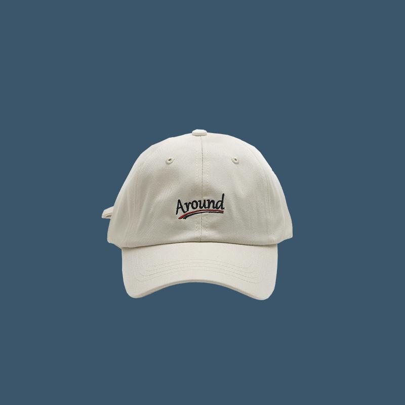 美式街头潮牌四季款简约字母全棉软顶棒球帽子男女学生弯檐鸭舌帽