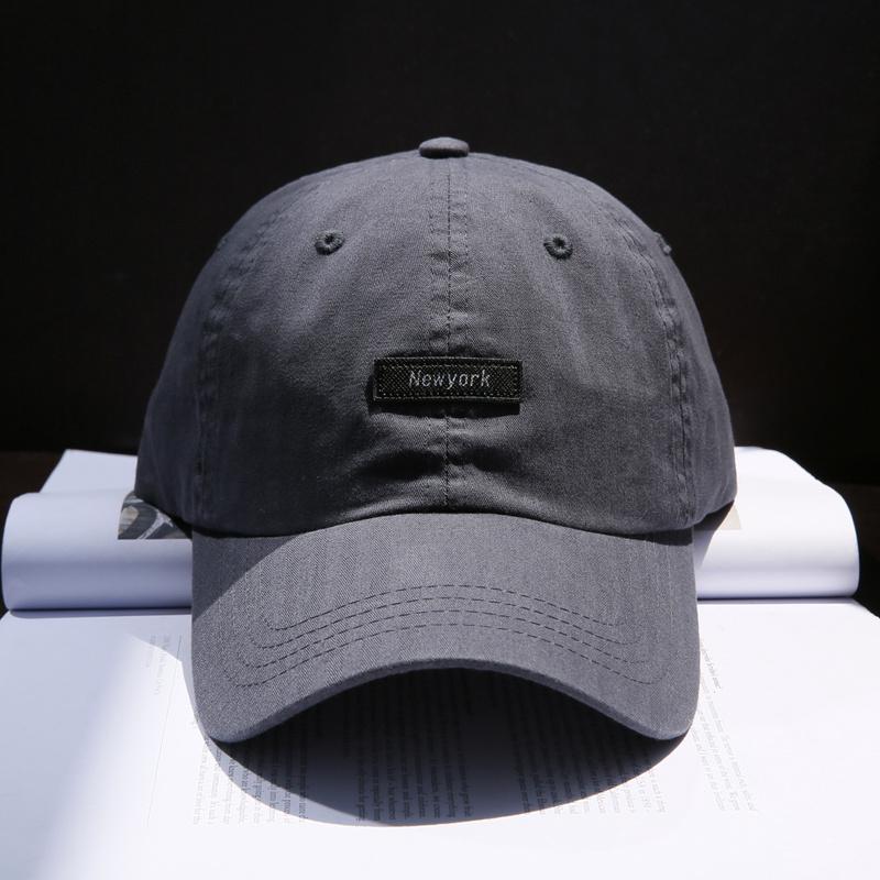 好货!美式简约Newyork字母棒球帽子男女 青年学生弯檐纯色鸭舌帽