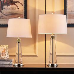 现代简约欧式水晶台灯卧室床头灯创意酒店大台灯时尚客厅装饰台灯