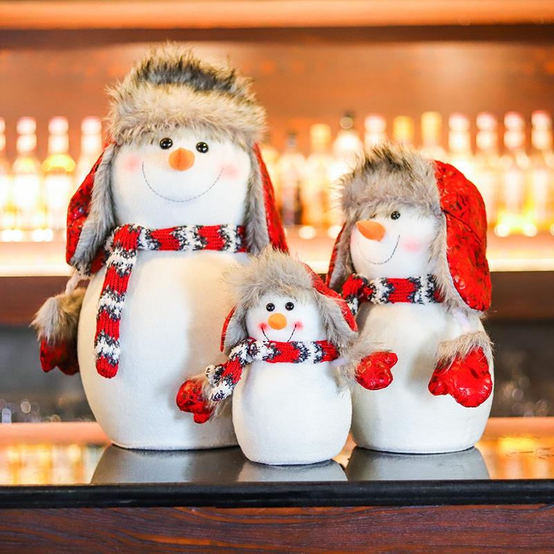 福麒麟 圣诞雪人娃娃 圣诞节装饰公仔玩偶摆件儿童圣诞礼物小礼品