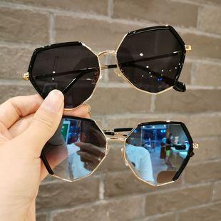 兒童太陽鏡防紫外線男童潮個性眼鏡3-12歲蛤蟆鏡時尚走秀女童墨鏡