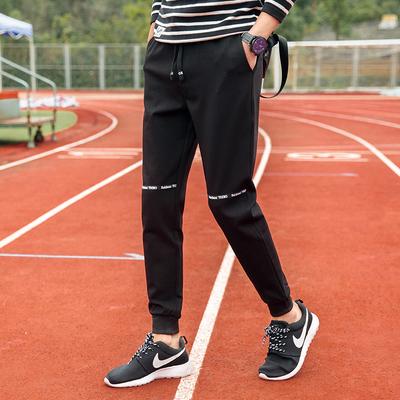 97.4%聚酯纤维2.6%氨纶校园学生青少年哈伦裤男卫裤休闲裤1706p45