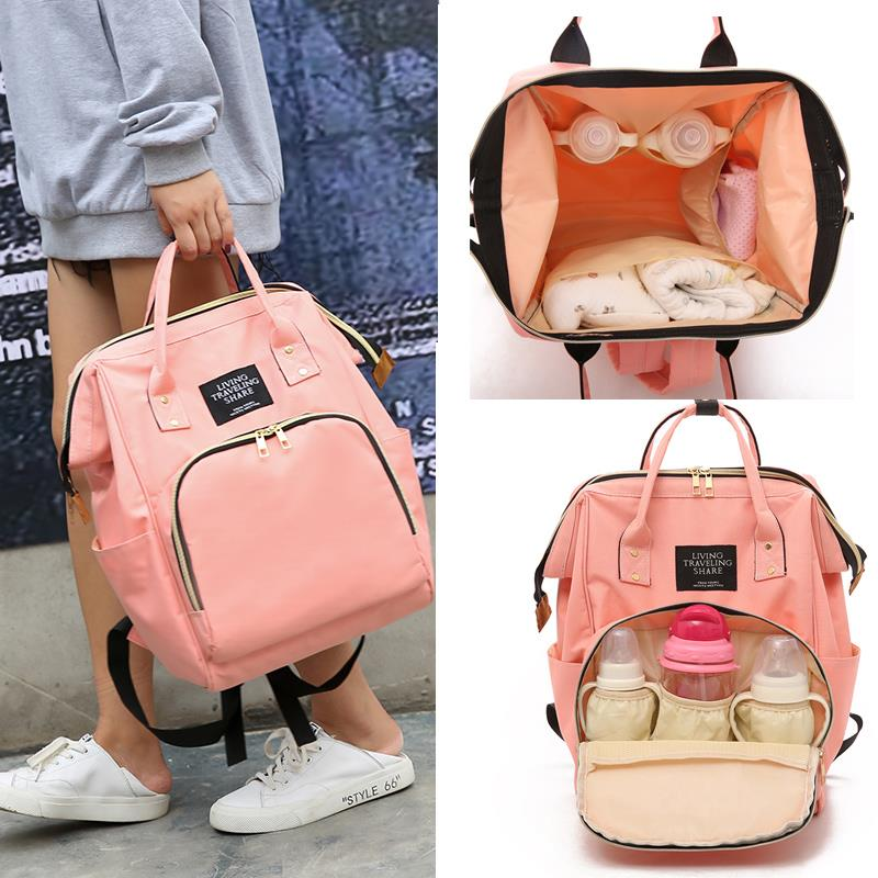 Upgraded version of carrying mother and baby out backpack nanny new environmental protection upgrade portable leisure Mommy diaper quasi wrapping paper