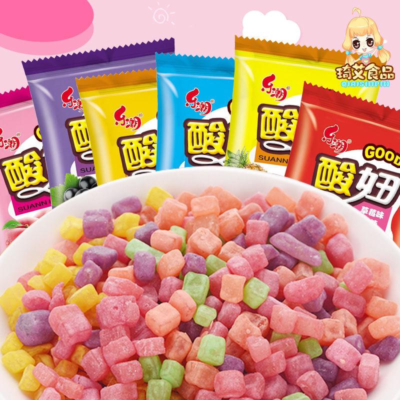 乐潮酸妞600g/150g软糖水果糖混合口味橡皮糖糖果童年怀旧小零食