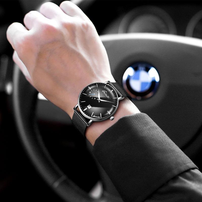 超薄2018新款手表男潮全自动机械表概念星空时尚男士手表防水学生