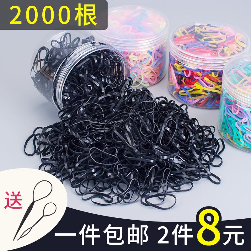 韩版小橡皮筋女扎头发绳发圈韩国皮套头绳可爱森女系一次性黑头饰图片