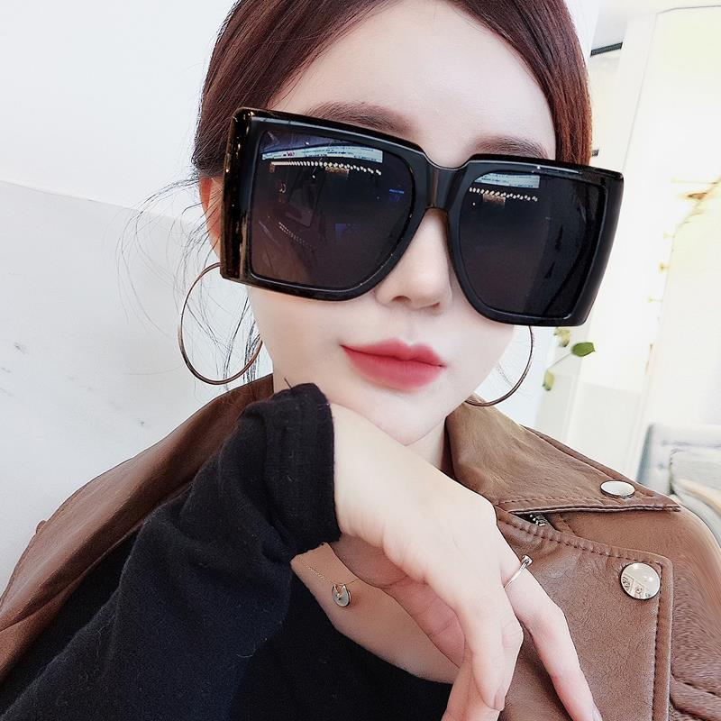 Genuine self-developed extra large box female Sunglasses show thin big face Sunglasses 2020 new men