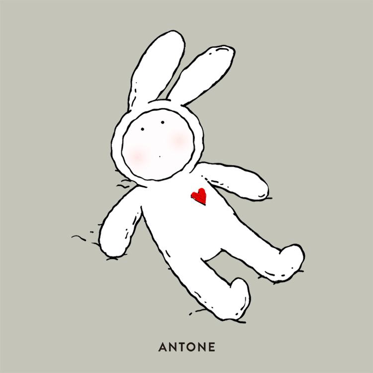 ANTONE 不二兔子毛绒玩具 安东尼 & echo 不二兔子正版周边礼物