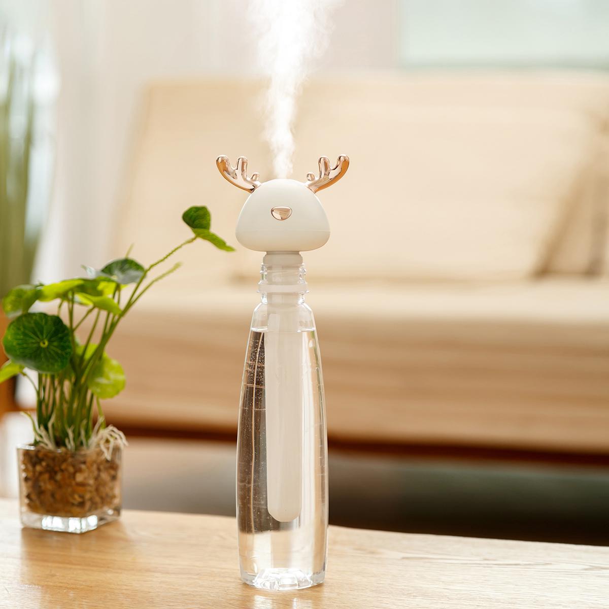 11-04新券小鹿加湿器小型便携式usb净化空气脸部补水静音矿泉水瓶杯大雾量