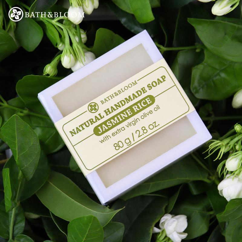 泰��Bath&Bloom茉莉香米手工皂  �睾脱a水滋����面沐浴皂精油皂