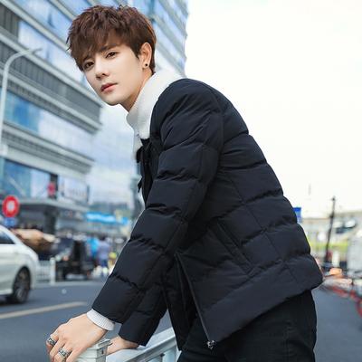 2018冬季新款韩版修身时尚毛领棉衣男潮流多口袋棉服 860 P70