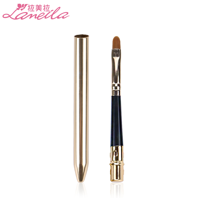 Latin American lip brush, lipstick, lipstick, lip brush, metal tube Mini makeup brush.