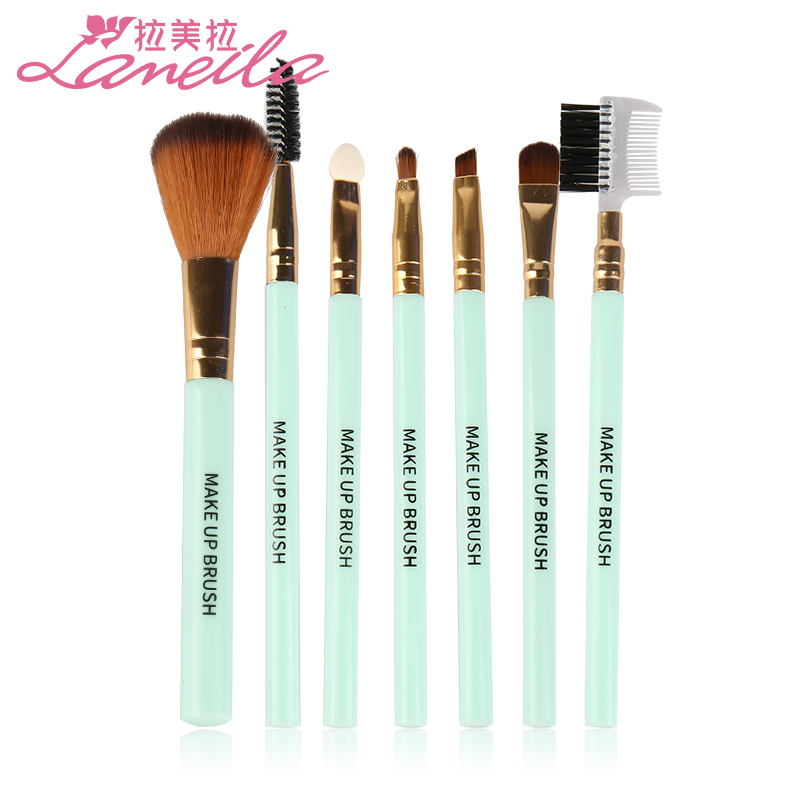 7 cosmetic brush sets for beginners, full set of brush, eye shadow brush, lip brush, powder brush and cosmetic brush.