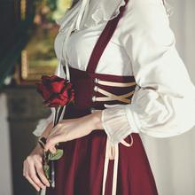 弥爱原创 芙蕾 法式复古赫本高腰绑带背带裙长裙显瘦宫廷2021新款