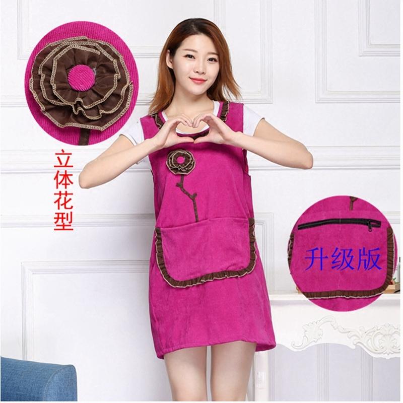 袖なし純綿のベストエプロン女性のチョッキ韓国版のファッション料理の炊事場のベスト式の防油の家庭用長袖のカバー