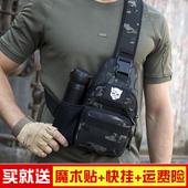 战术胸包男士 单肩斜挎包户外运动路亚帆布钢珠多功能腰包男弹弓包