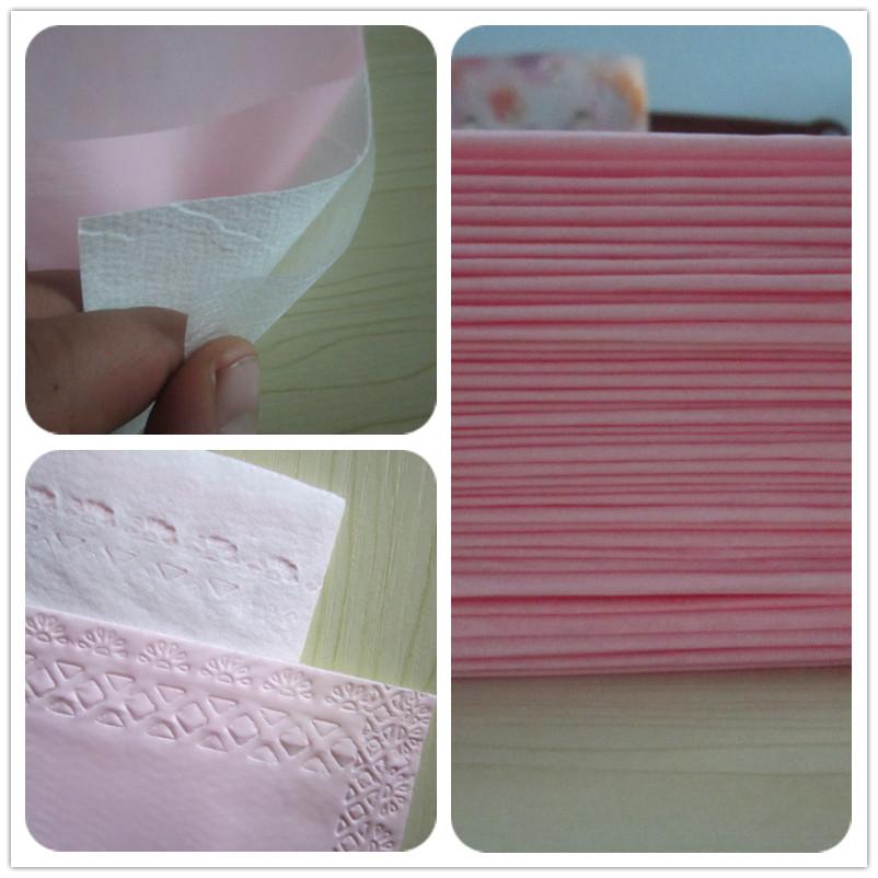 加厚一次性床单 美容院防水防油床垫 木棉纸夹层无菌医用垫单粉色